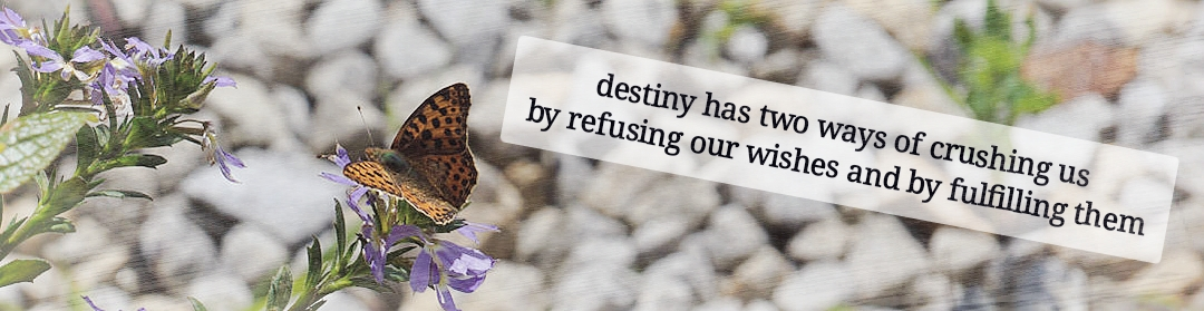 …destiny has two ways of crushing us…